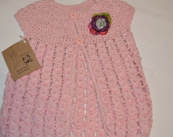2 - 3 Years Old Girls' Light Pink Cardigan