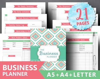 Business Planner Printable Business Binder Etsy Business Organizer Home Business Management