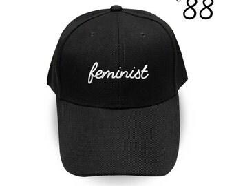 Feminist Baseball Cap Fashion Feminist af Embroidery Hat Pinterest Instagram Tumblr
