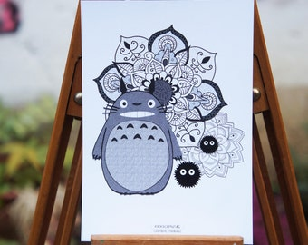 Postcard - Totoro Mandala