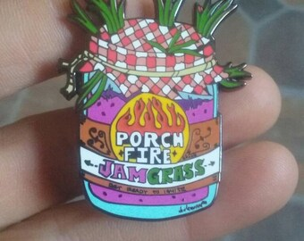 Porch Fire hatpin