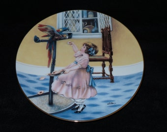 "1988 Hamilton Collection Fond Memories ""Pretty Polly"" Collector Plate by Meta Grimball"