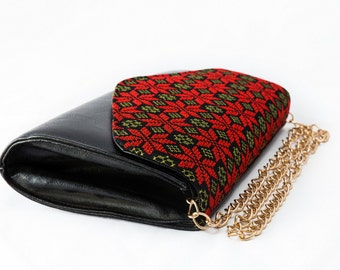 Ladies Clutch with Palestinian Embroidery
