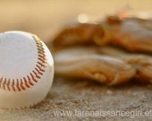 Baseball and Glove / Sports Photography /HD Wallpaper {Digital Download}