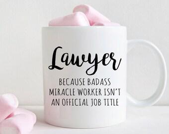 Gift for Law School Graduate, Lawyer coffee mug (M328)