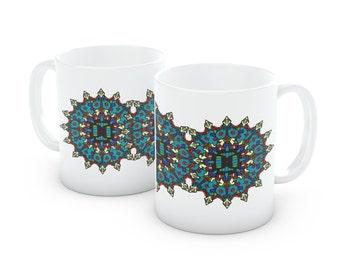 Tribal Mask Mandala Coffee Mug