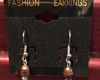 Fresh waterpaerls Handmade beaded earrings