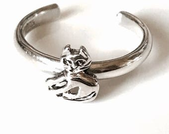 Sterling Silver Cat Toe Rings
