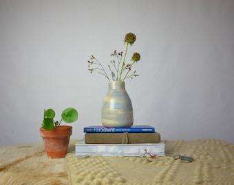 Lilac white ceramic vase stoneware