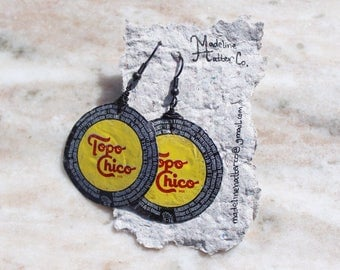 Topo Chico Bottle Cap Earrings
