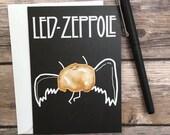 Funny Led Zeppelin Zeppole Blank Greeting Card