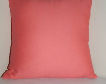 18x 18 CORAL zippered pillow cover