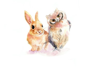 Rabbit and Owl