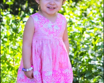 Girls unicorn dress - girls dress - colorblock dress - baby dress