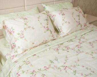 Tencel Linen bedding birds bedding Tencel bedding Linen duvet cover set Bedding twin Bedding queen Bedding king Bedding comforters SEAMLESS
