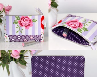Case, pencil case, cosmetic bag, make-up bag, cellphone, universal pocket, pen pencil-case, case, patchwork, gift for her