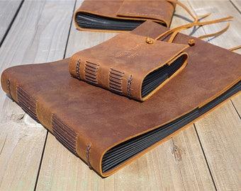 Custom leather album, Scrapbook album, Handmade wedding book, Rustic wedding album, Vintage album, Retro photo album, Wedding guest book