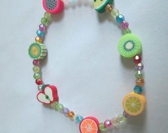 Cute handmade fruit pastel bracelet