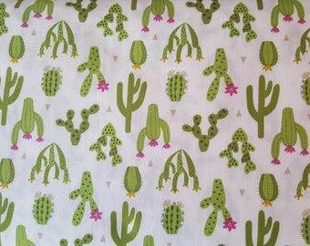 Cactus Fabric, Desert Fabric, Paracus, Lewis & Irene, Southwest, Green, Nature, Cacti, Desert 100% Cotton, Choose Your Cut