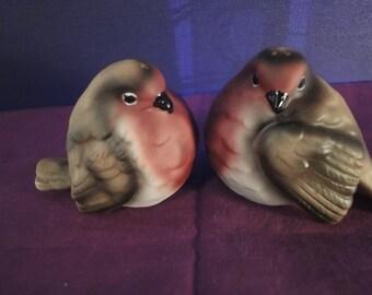 pair LOVE BIRDS in porcelain