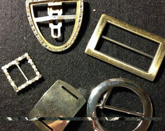 Vintage Belt Buckles and Parts (five)