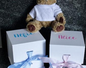 Luxury Large Cube gift box, Christening gift box, Brides Box, Gift box, Birthday box, New baby Box, Bridesmaid Box, Gender Reveal Box