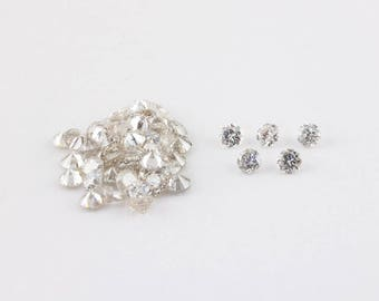 2.4mm, Brilliant Round Diamonds, Very Light Champagne, I1 - I2, Post Consumer and Conflict Free