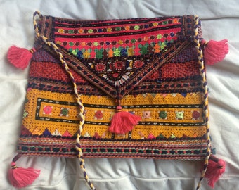 Gorgeous Rajasthani cross body bag, clutch or iPad case
