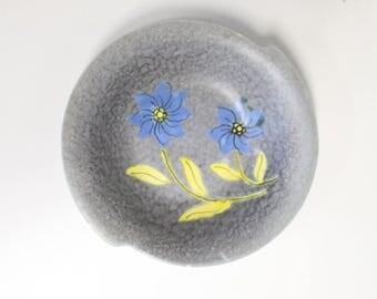 Vintage Bowl with floral decor