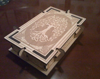 Norse Yggdrasil Tree / Celtic Tree of Life Laser Engraved Box~