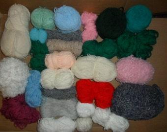 Mix Bundle Of Knitting Materials