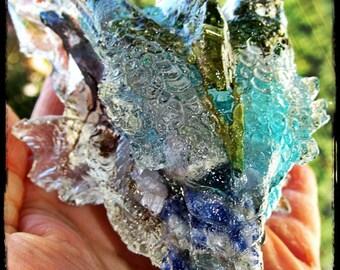 Dragon Guardian with Sodalite, Rose Quartz, Blue Chalcedony, Pyrite, Selenite