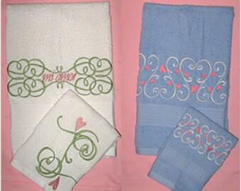 Hearts A Swirl Machine Embroidery Designs
