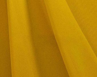 Hi Multi Chiffon Fabric - 10 Yards - Mustard (LF1)