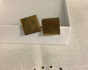 Vintage Swank Goldtone Men's Cuff Links