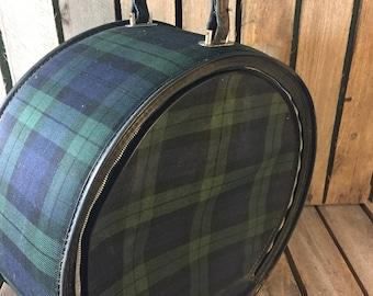 Vintage round suitcase | Etsy