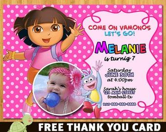 Dora Birthday Invitation- Dora Invite- Dora Invitation