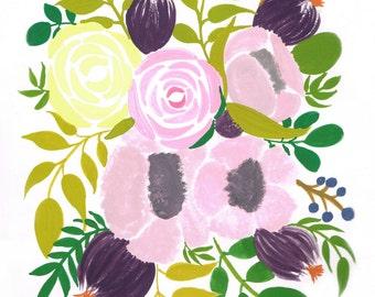 POST CARD flower bouquet (set of 5)