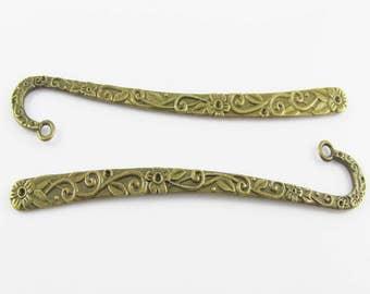 Bulk Flower Garden Bookmark 122mm Antique Bronze Suit Beading Select Qty 1/5/10