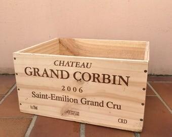 French Original Wine Crate Bottle EMILION 2703201722