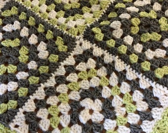 Crochet Patchwork Granny Square Baby Blanket