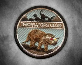 Triceratops Club Patch
