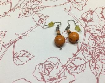 Simple Orange Earring