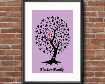 Family Tree Digital Print Gift Present Frame
