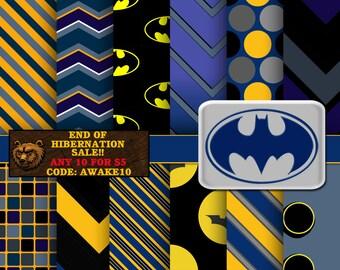 Batman digital paper, digital download, instant download, digital paper, backgrounds
