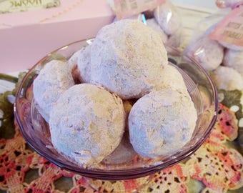 Butter Pecan Snowball Cookies, Russian Tea Cookies, Mexican Wedding Cookies, Butterballs, 2 dozen