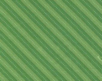 Up & Away Balloon Stripe Green Fabric by Michael Miller