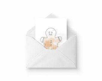 Gingerbread card / / Gingerbread card