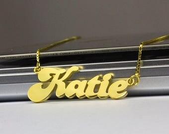 Personalized Jewelry, Custom Necklace, Banana Style Name Necklace, Name on Necklace, Name Necklace Gold, Personalized Necklace, Custom Gifts