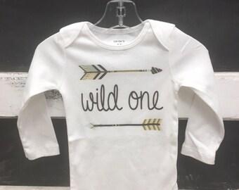 Wild ONE arrow onesie or tee